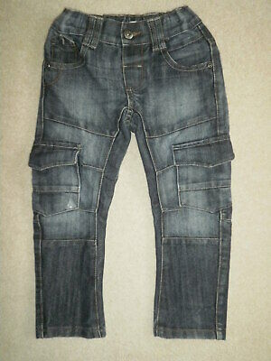 F&F Boy's Combat Style Blue Jeans age 3-4 years with adjustable waistband