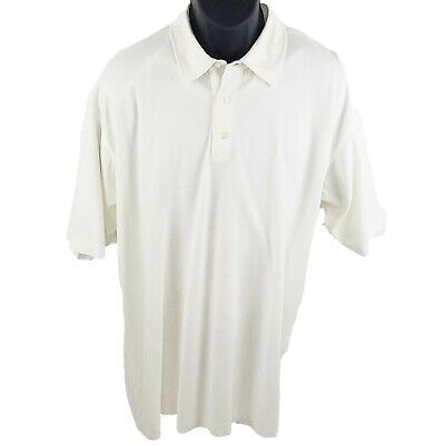 Ermenegildo Zegna Mens Polo Shirt Ivory Short Sleeves 100% Cotton Top XXL