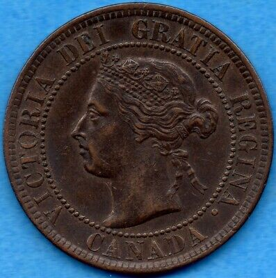 Canada 1899 1 Cent One Large Cent Coin - EF/AU