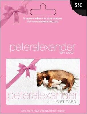 Peter Alexander $50 Gift Card - Free Postage