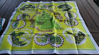Vintage Retro  Queensland Linen Tablecloth UNUSED