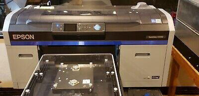 Epson sure color f2100 DTG printer,  pre treat machine, heat press, platens.