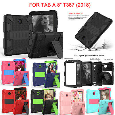 For Samsung Galaxy Tab A 8.0'' SM-T387 2018 Shockproof Hard Case Cover Rugged