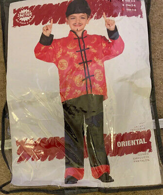 Kids Boys Oriental Costume Japanese Chinese Fancy Dress Outfit Book Day Week
