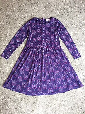 John Lewis Loved And Found Girls Purple Dress Aged 7 VGC
