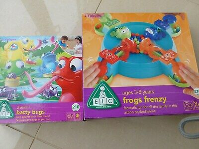 2x ELC Childrens Games.Frog Frenzy and Batty Bugs