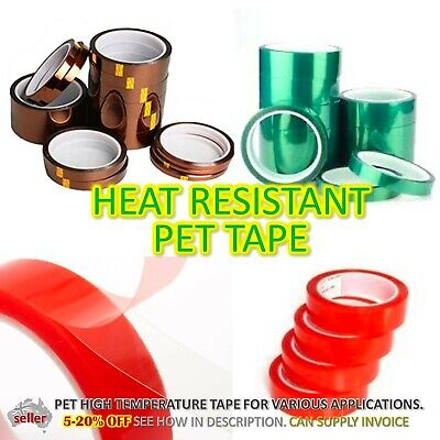 Heat Proof PET PVC Electrical Tape High Temperature Waterproof Double Sided