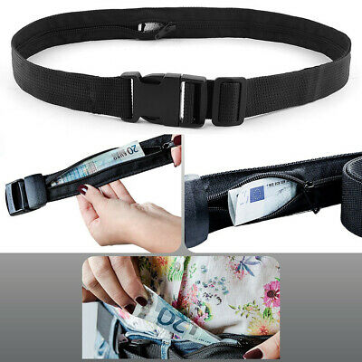 Travel Security Money Belt Hidden Money Pocket Cashsafe Anti-Theft Wallet Belt
