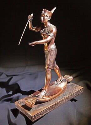 Quality Egyptian of a Hunting Pharaoh Copper Figurine - Excellent Condition