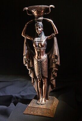 Quality Egyptian Goddess Copper Figurine - Excellent Condition