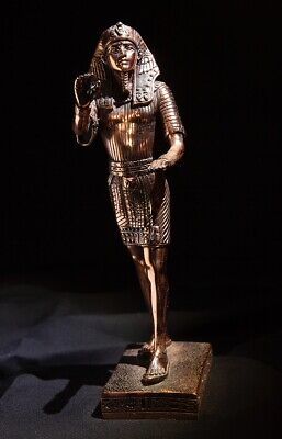 Quality Egyptian Pharaoh Copper Figurine - Excellent Condition