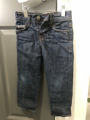 John Lewis Boys dark Blue Denim Jeans Adjustable Waist Age 3 Years