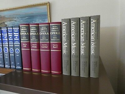 The NEW GROVE DICTIONARY of AMERICAN MUSIC. 4 Hardback Volumes. V Good Condition