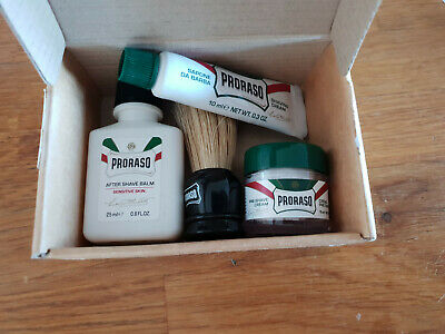 RRP £15 - URBAN OUTFITTERS PRORASO SHAVE TRAVEL KIT Shaving Brush Cream Balm NEW