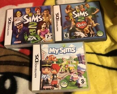 Nintendo Ds Games Sims  With Booklet