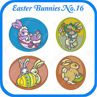 10 Easter Bunnies Embroidery Designs On Usb - No.16 - Pes Jef Hus Pcs Xxx Vp3