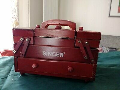 Rare Vintage Singer Cantilever Sewing Accessories Wooden Box (Project)