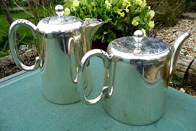 Art Deco teapot & Coffee water pot Sheffield silver plate superb condition