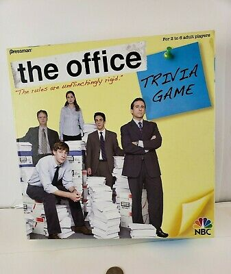 The Office Trivia Board Game Dunder Mifflin NBC Show Pressman 2008 COMPLETE