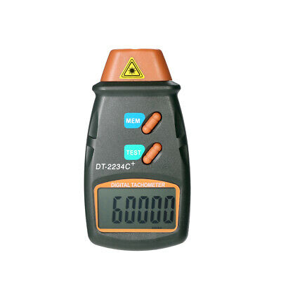 DT-2234C+ LCD Digital Non-Contact  Photo Tachometer RPM Tester Meter P8W4