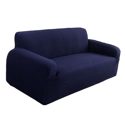 Blue Stretch Water Repellent Fully Covered 2-Seater Couch Sofa Cover