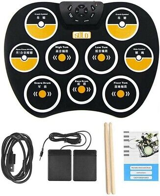 Brand New Volwco Electronic Drum Set, Portable Electronic Drum Pad, Roll Up Drum