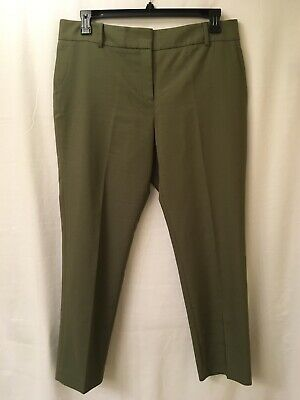 NWT$69, Chaus New York, sz 14 x 28 ins, women's olive green ankle trouser pants