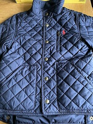 NWT POLO RALPH LAUREN Boys Lightweight Quilted Barn Jacket, size 5, NAVY