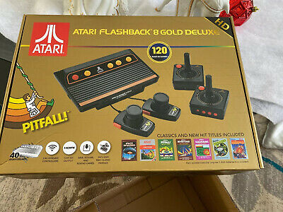 Atari Flashback 8 Gold Deluxe HD Console - AR3620X Paddles included- Brand New