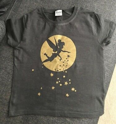 Next Girls T-Shirt with Tinkerbell Aged 5 Grey