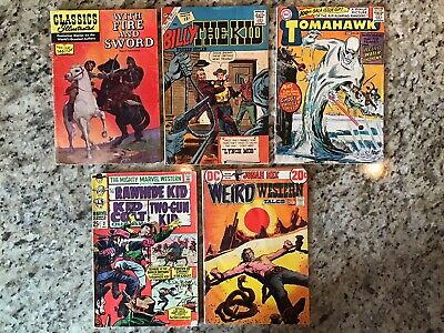 VINTAGE WESTERN READER LOT OF 5! Classics Illustrated 146! Tomahawk 100! MORE!