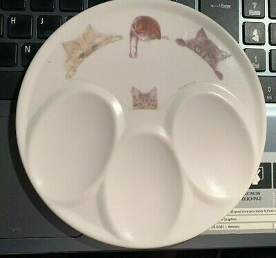"Melamaster Melamine ""Rogues Gallery""?  Cats 3 Spoon Rest. Vintage?"