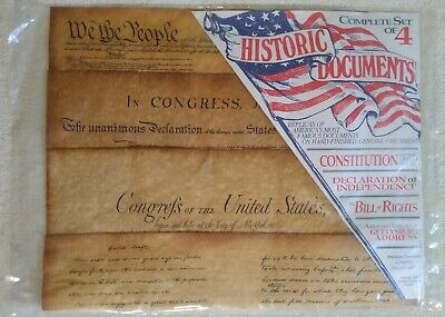 Historical Document Replica Set Constitution Bill Of Rights Gettysburg Address +
