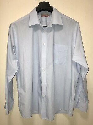 """Marks & Spencer Tailoring Easy Care Cotton Shirt. 18"""" Collar. Pale Blue. M&S"""