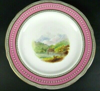 Antique Cabinet Plate French Old Paris Porcelain Hand Painted Sevres Style E