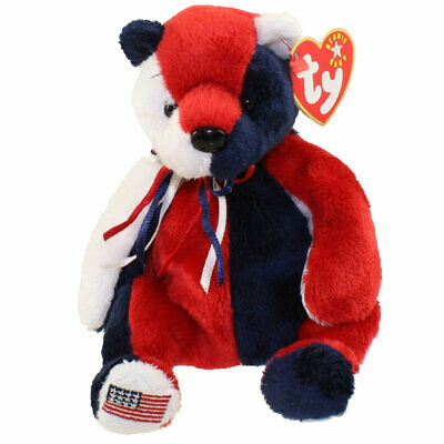 - MWMTs 7.5 inch Reversed Version PATRIOT the Bear TY Beanie Baby