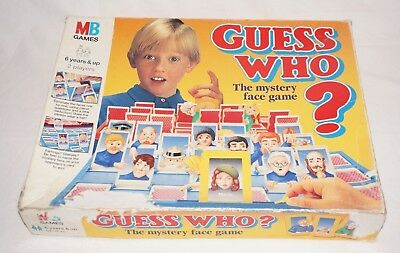 Guess Who MB Fun Family Guessing Board Game 1994 COMPLETE VGC RARE