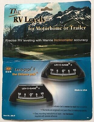 Sun Company Lev-o-gage II, 2 Leveling Gauges for RV, Trailer inclinometers 306-R