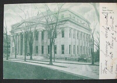 Penny Postcard Vintage Photograph State House Albany NY Posted 1907
