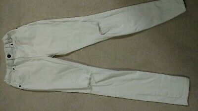 River Island Boys White Skinny Jeans With Ripped Knees - Age 12 Years