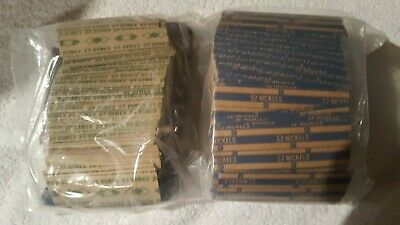 Coin Roll Wrappers (1000+) Assorted Flat Coin Papers Bundle of Dimes & Nickels
