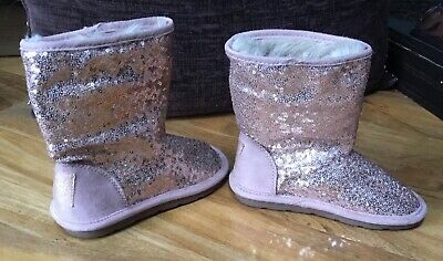 BNWOT NEXT GIRLS SHOES SPARKLY SEQUINNED BOOTS SIZE 11UK kids