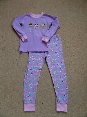 SUPER CUTE Girl's 100% ORGANIC COTTON Pyjama Set Age 6 Ballerina Theme From USA