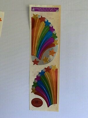 Vintage Stickers - Cardesign - toots- Metallic Rainbow Star 1982