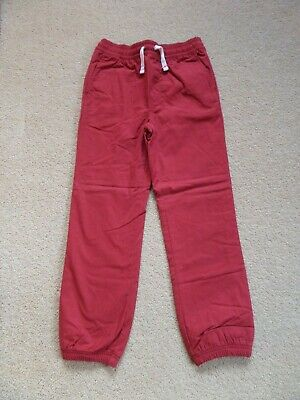BRAND NEW Boy's HANNA ANDERSSON Fully Lined Cuffed Chino Trousers Red Age 10