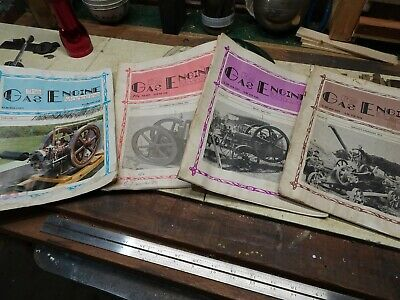 4 Older Gas Engine Magazines Antiques   Hit And Miss