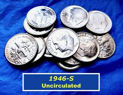 1946-S  DIME ⭐️ Uncirculated ⭐️  1st Year of Roosevelt Dimes  ⭐️   (•3204)