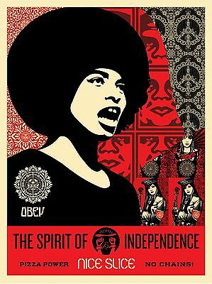 Shepard Fairey - Spirit Of Independence - Nice Slice - Obey Giant - S/N - 2017