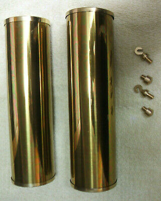 2 Grandfather Clock Brass Weight Shells, Caps, Hooks, Nibs, 5% Multi Discount (A