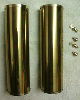 2 Grandfather Clock Brass Weight Shells, Caps, Hooks, Nibs, 5% Multi Discount (B